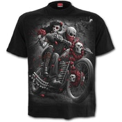 Day of the Dead Bikers Men's Large T-Shirt - Black