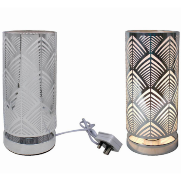 Silver Touch Lamp Deco By Lesser & Pavey (UK Plug)