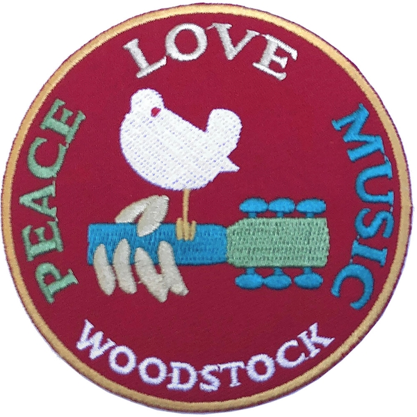 Woodstock - Peace, Love, Music Standard Patch