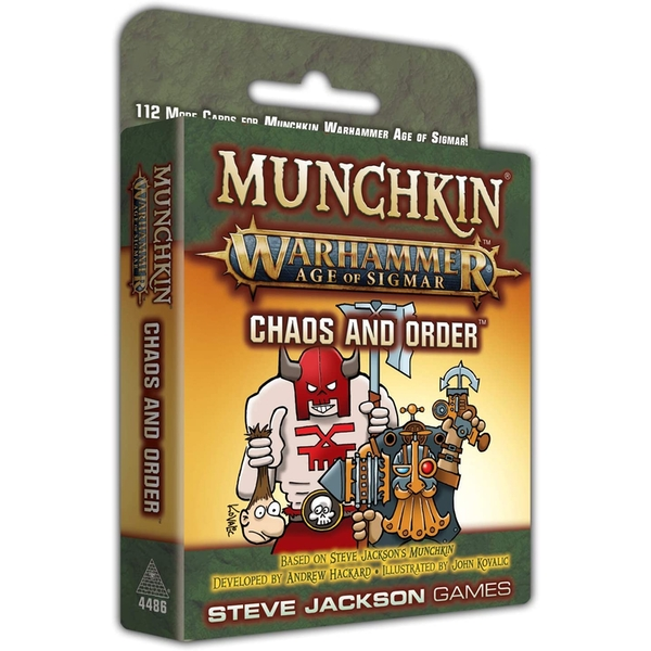 Image of Munchkin Warhammer Age of Sigmar: Chaos and Order Expansion Card Game