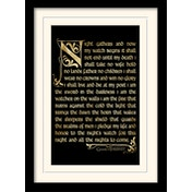 Game of Thrones - Season 3 - Nights Watch Oath Mounted & Framed 30 x 40cm Print