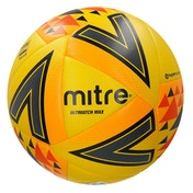 Mitre Ultimatch Max Match Ball Yellow Size 5