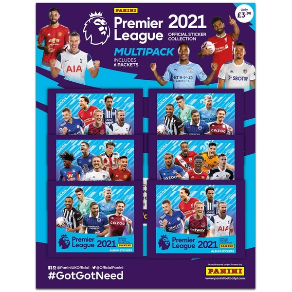 Panini's 2021 Premier League Sticker Multipack (6 Packs)