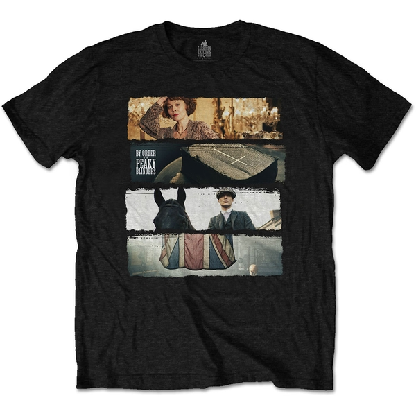 Peaky Blinders - Slices Unisex Large T-Shirt - Black