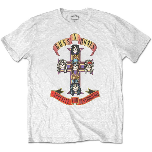 Guns N' Roses - Appetite for Destruction Kids 9 - 10 Years T-Shirt - White