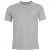 Slazenger Plain T-Shirt Small Grey Marl
