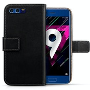 Huawei Honor 9 Real Leather Wallet - Black