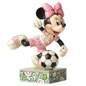 Goal Minnie Football Disney Traditions Figurine