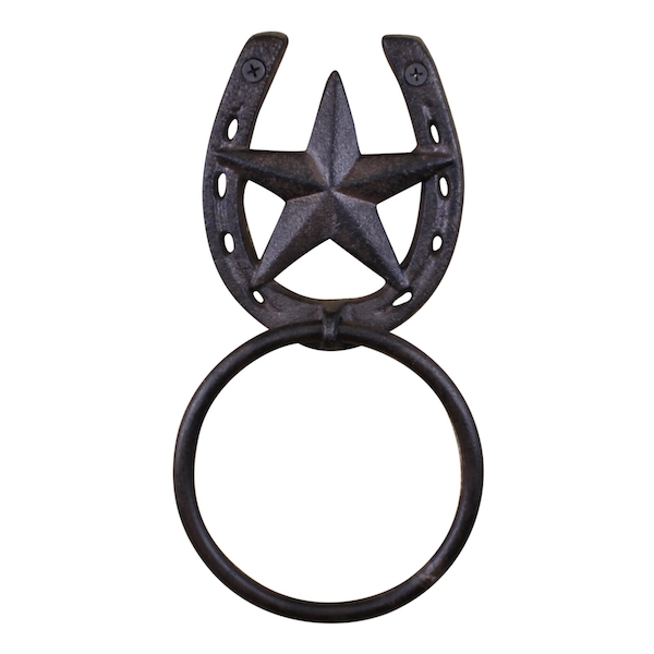 Cast Iron Rustic Towel Ring, Horseshoe