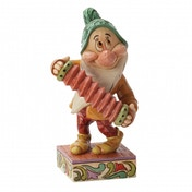 Disney Traditions Snow White Affable Accordionist Bashful Figurine
