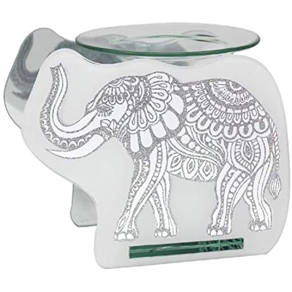 Glass Elephant Wax Oil Warmer By Lesser & Pavey
