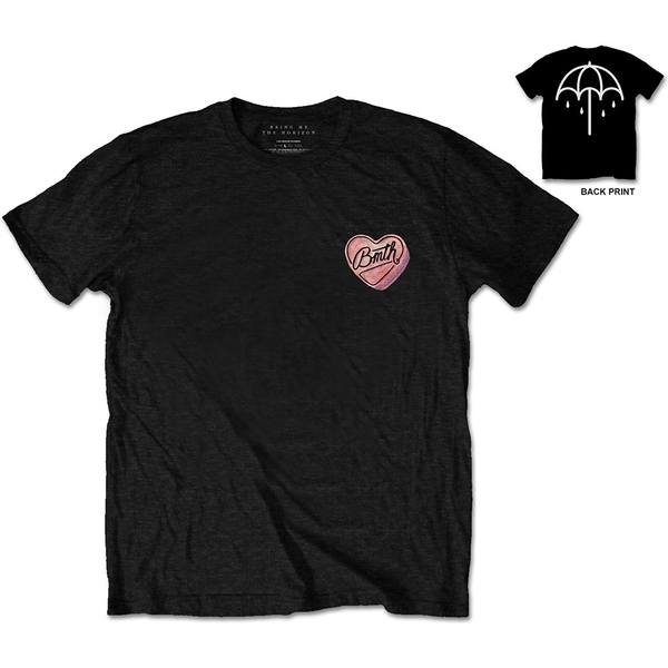 Bring Me The Horizon - Hearted Candy Unisex XX-Large T-Shirt - Black