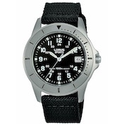 Lorus RS935DX9 Mens Sports Watch Stainless Steel Case with Black Dial