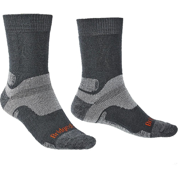 Bridgedale HIKE Midweight Merino Performance Original Mens - Large Gunmetal