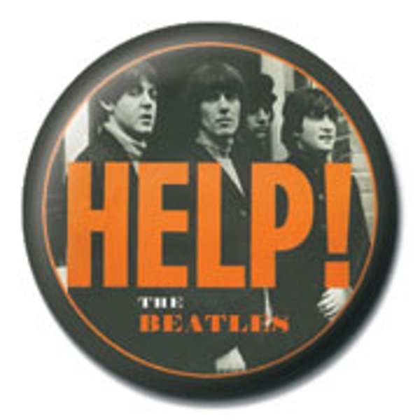 The Beatles - Orange Help Badge