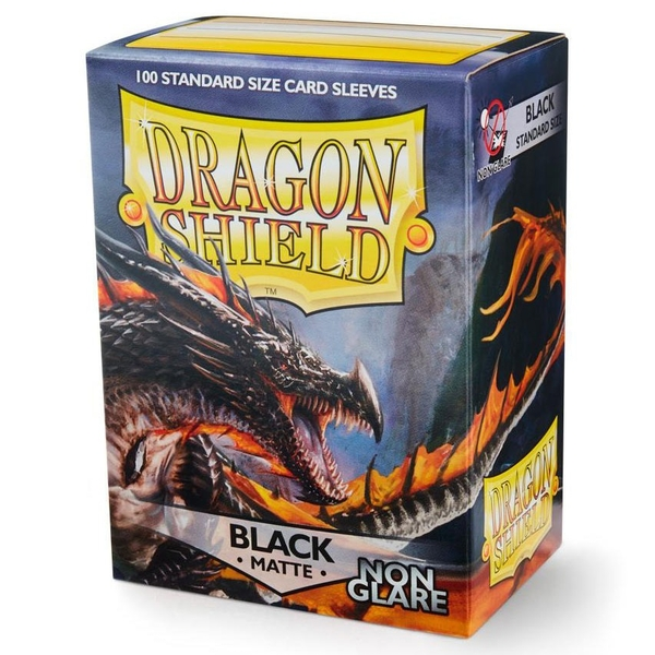 Dragon Shield 100 Matte NonGlare Black Standard Sleeves (10 Packs)
