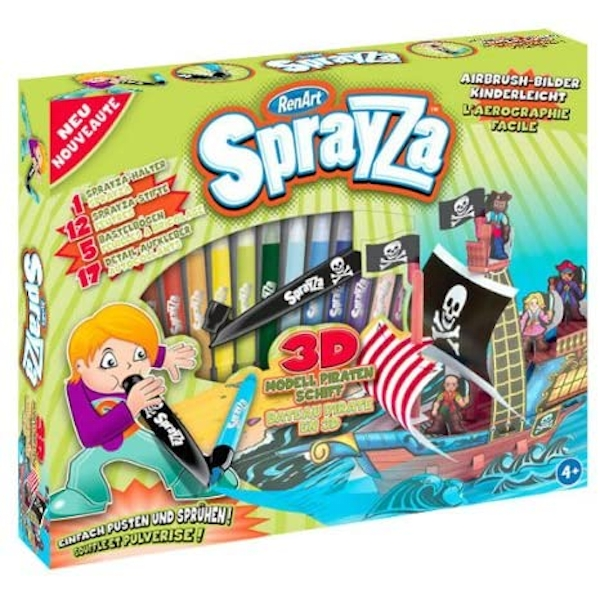 SprayZa - Pirate Ship Activity Set