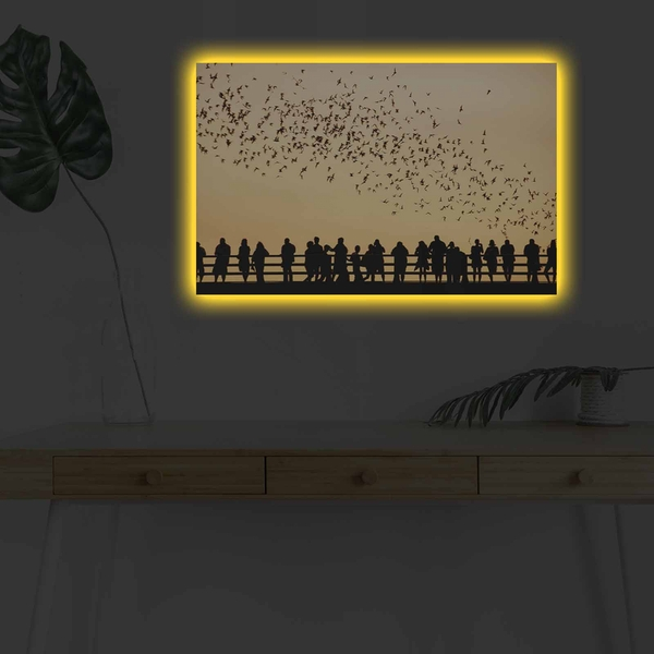 4570DHDACT-040 Multicolor Decorative Led Lighted Canvas Painting