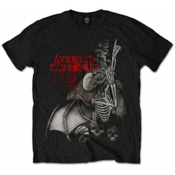 Avenged Sevenfold Spine Climber Blk T Shirt: Large