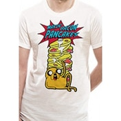 Adventure Time- Pancakes Unisex White T-Shirt Large
