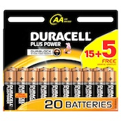 Duracell Plus AA 40 Pack Batteries