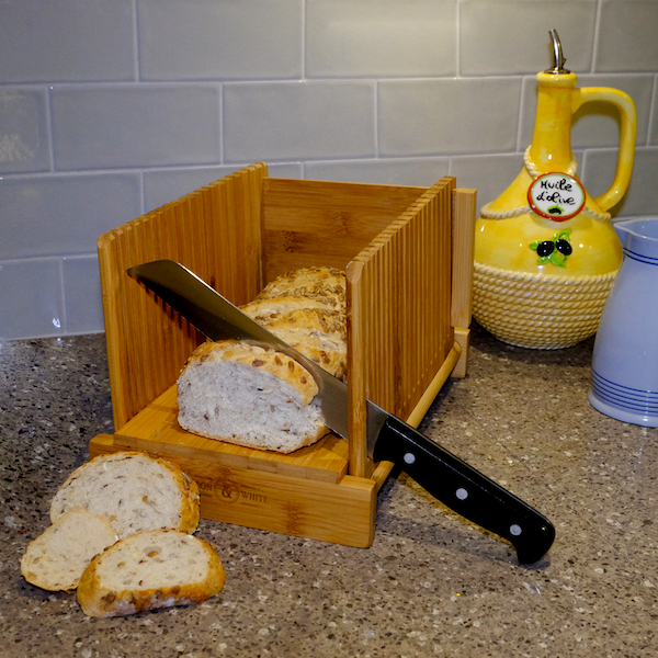 Bamboo Bread Slicer Guide With Crumb Catcher | M&W - Image 4