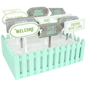 Set of 12 Garden Stakes in Display