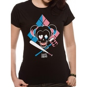 Suicide Squad - Cartoon Harley Quinn Women's Large T-Shirt - Black