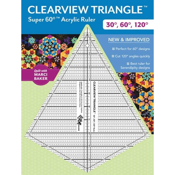 Clearview Triangle Super 60 Degrees Acrylic Ruler New and Improved General merchandise 2016