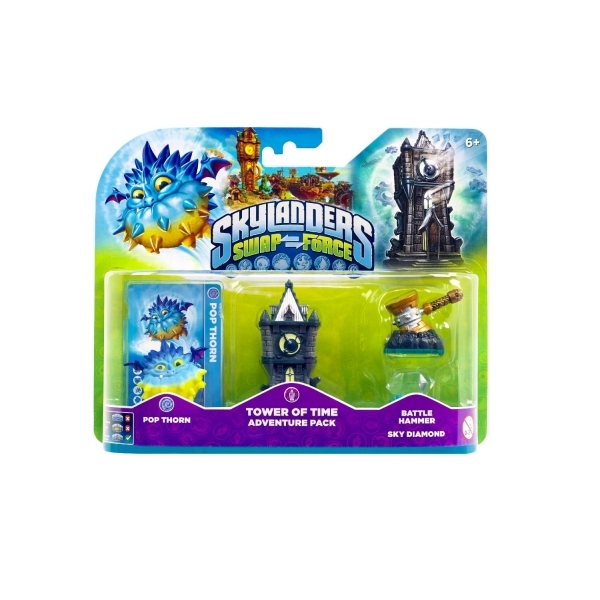 Pop Thorn, Battle Hammer, and Tower of Time (Skylanders Swap Force) Adventure Pack - Image 1