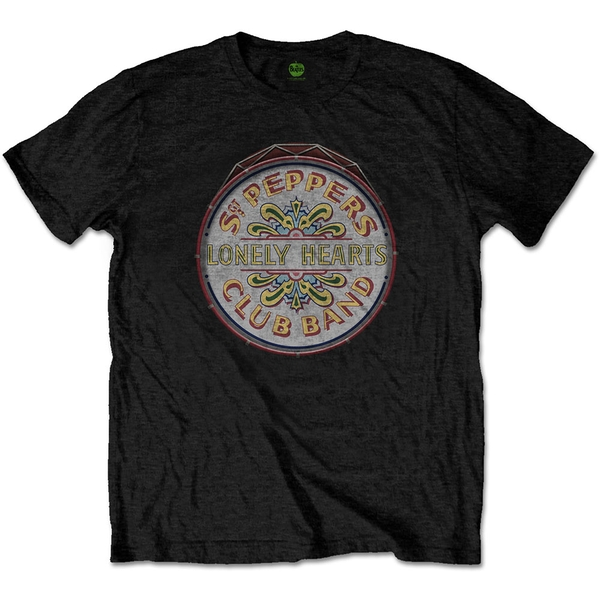 The Beatles - Original Pepper Drum Unisex Medium T-Shirt - Black