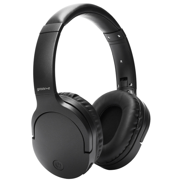 Image of Groov-e GVBT750BK Ultra Wireless Bluetooth Headphones with Wireless Charging - Black