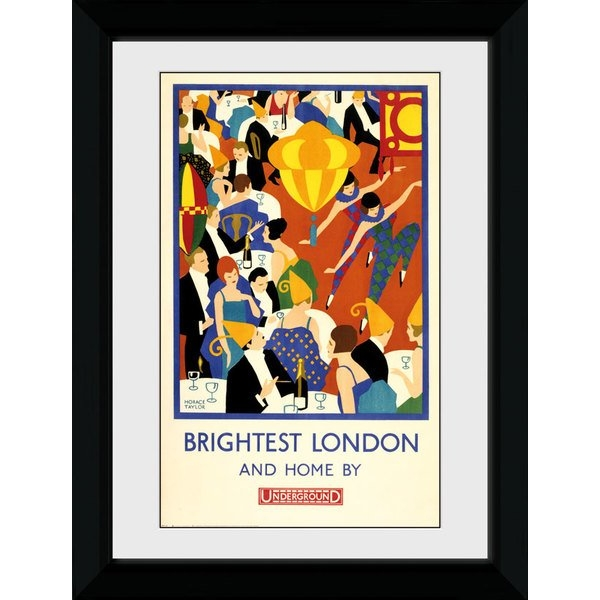 Transport For London Brightest London 2 50 x 70 Framed Collector Print