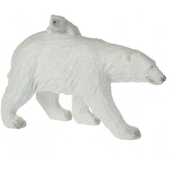 Walking Polar Bear And Cub 26cm