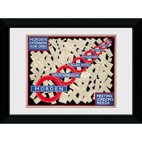 Transport For London Mordent Extension Framed Collector Print