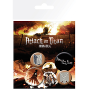 Attack On Titan Characters Badge Pack