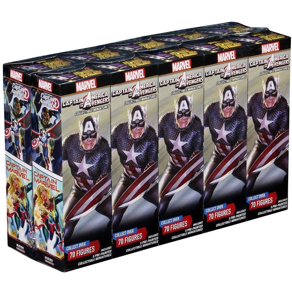 Marvel HeroClix Captain America and the Avengers Booster Brick (10 Packs)