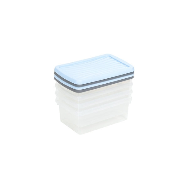 Wham Boxes And Lids 3.5L 2 Assorted Colours Pack 4
