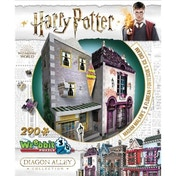 Harry Potter Hogwarts Diagon Alley Collection Madam Malkins & Florean Fortescues 3D Jigsaw Puzzle