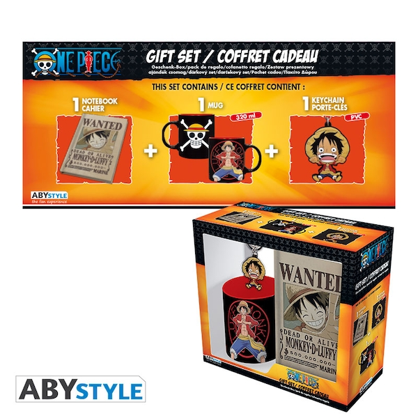 One Piece - Mug 320ml + PVC Keyring + Notebook Luffy Gift Box