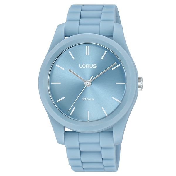 Lorus RG237SX9 Mens Soft Touch Blue Silicone Strap Watch