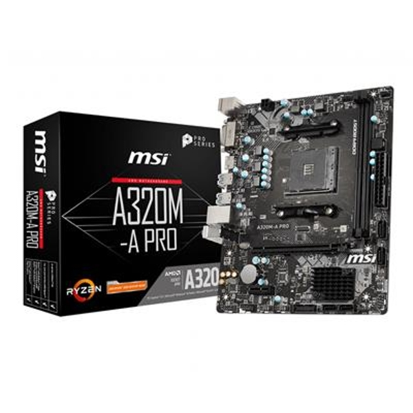 MSI Motherboard AMD AM4 A320M-A PRO D4 M-ATX