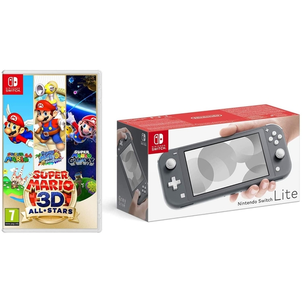 Nintendo Switch Lite Console Grey with Super Mario 3D All Stars Nintendo Switch Game