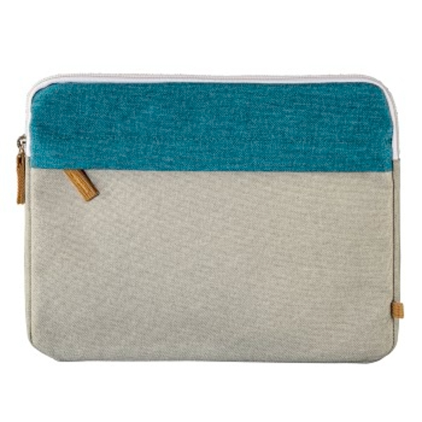 "Hama ""Florence"" Notebook Sleeve, up to 25.6 cm (10.1""), petrol/grey"