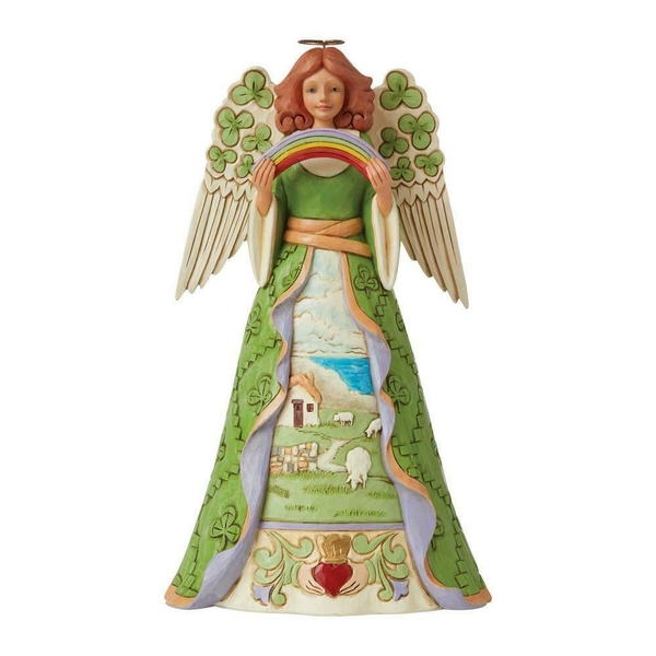 Blessings Be Upon 'Ye' Irish Angel with Shamrock Wings Heartwood Creek by Jim Shore