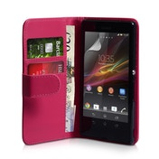 YouSave Accessories Sony Xperia Z Leather-Effect Wallet Case - Hot Pink