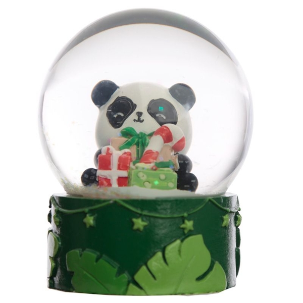 Christmas Panda Waterball Snow Globe