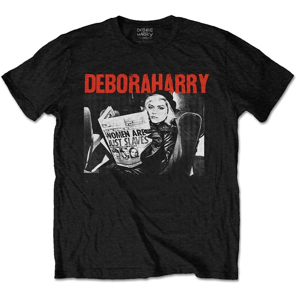 Debbie Harry - Women Are Just Slaves Men's Small T-Shirt - Black