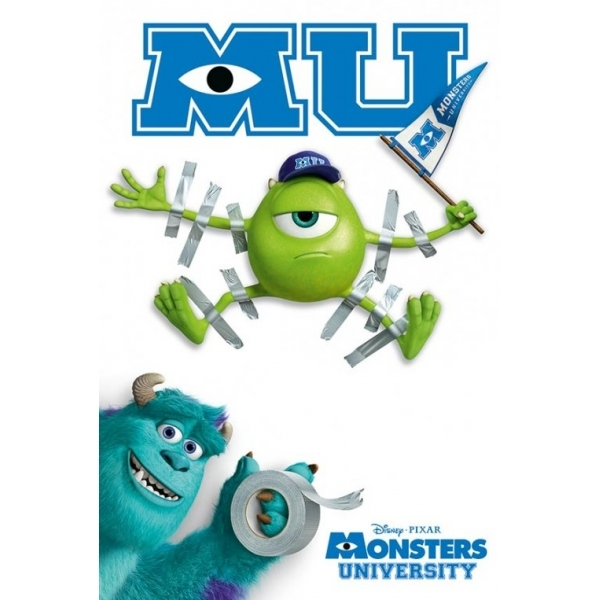Monsters University Tape Maxi Poster