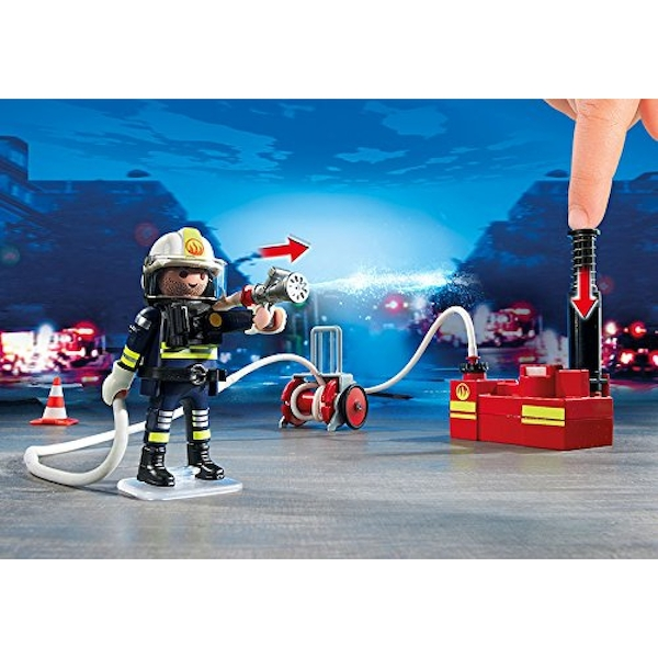 Playmobil City Action Fire Brigade Firefighters with Water Pump - Image 3